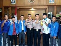 Silaturahmi Pengurus KNPI Dengan Kapolres Gowa