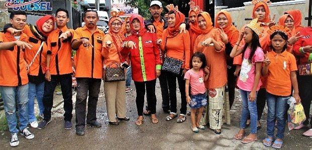 Tim XENA Sambut Meriah Paslon DIAmi Di Makassar