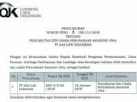 PT.AXA Life Indonesia, Izin Usaha Resmi Dicabut Oleh OJK