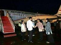 Presiden Jokowi Telah Tiba Di Makassar Semalam